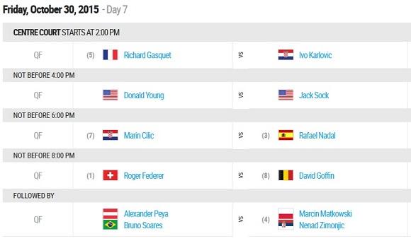 30 ottobre ATP Basel